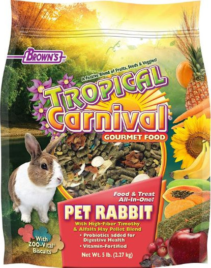 BROWNS TROPICAL CARNIVAL GOURMET FOOD For PET RABBITS- 2 27 KG