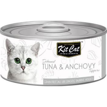 Kit Cat Wet Food Tuna & Anchovy Toppers 80g