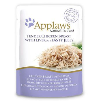 APPLAWS CAT CHICKEN WITH LIVER 70G JELLY POUCH