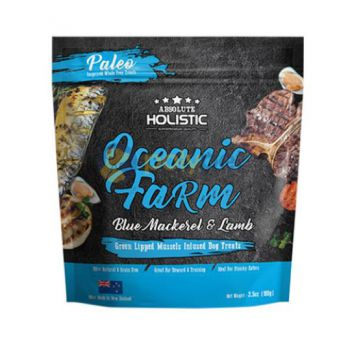 Absolute Holistic Air Dried Dog Treats - Oceanic Farm 100g