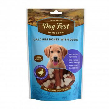 Dog Fest Calcium bones with duck for puppies - 90g (3.17oz)