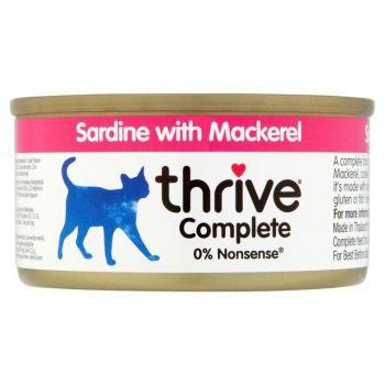 Thrive Complete Cat Sardine w/ Mackerel in Gravy 75G