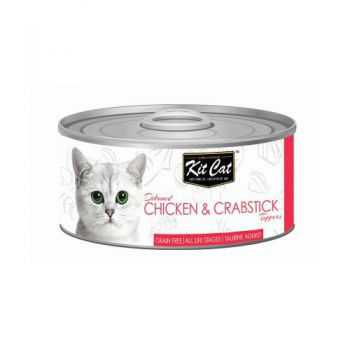 Kit Cat Wet Food Chicken &  Crabstick Toppers 80g