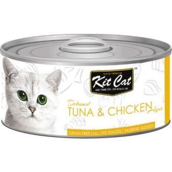 Kit Cat Wet Food TUNA & CHICKEN 80g