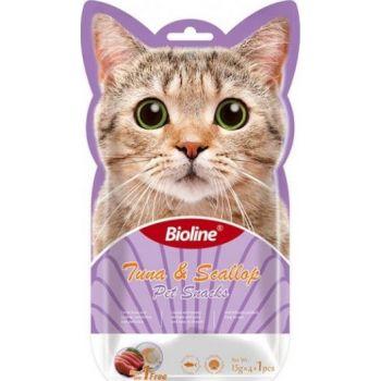 Bioline Cat Treats -  Tuna & Scallop 5x15g