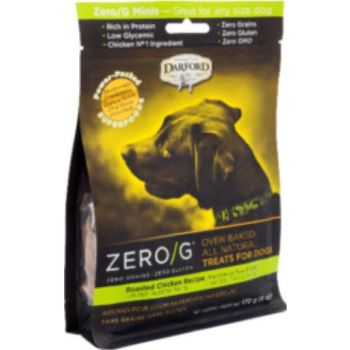 Darford Zero GDog Treats  MINI Roasted CHICKEN 170g / 6oz
