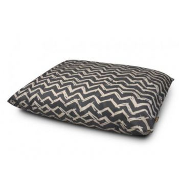 Outdoor Water Resistant Dog Bed Chevron Black Large