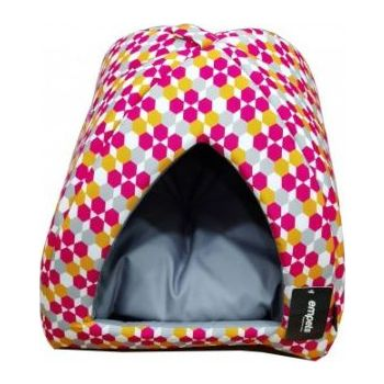Empets Cat  House With Cushion Pattern Color 34x34x27h (I01M)