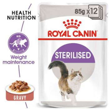 Royal Canin Cat WET FOOD - Sterilised (pouches)85G