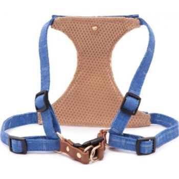 Pawsitiv Handmade Easy Walk Harness - Toby (1722) - Blue Small