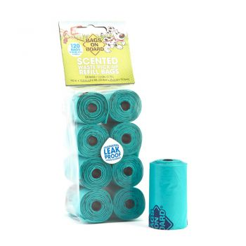 BOB Refill Poo Bags Scented Green Roll 120 bags(8x15)