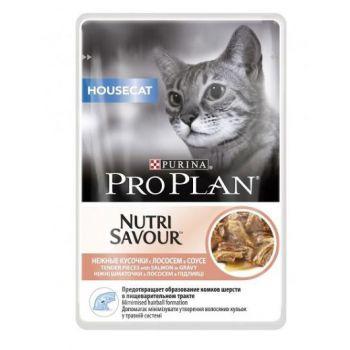 Pro Plan Nutri Savour Housecat - Salmon in Gravy (85g)