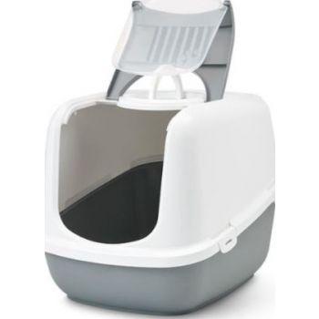 Savic Nestor Jumbo Cat Litter Pan, Grey Or Mocha Color
