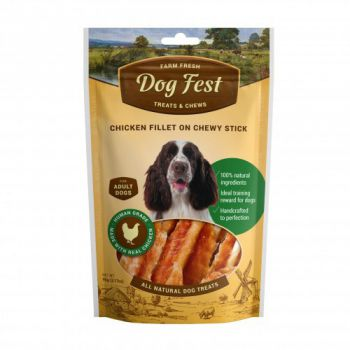 Dog Treats DF Chicken fillet on a chewy stick for adult dogs - 90g (3.17oz)