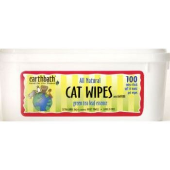 CAT GROOMING WIPES with Awapuhi, Green tea scent 100pcs