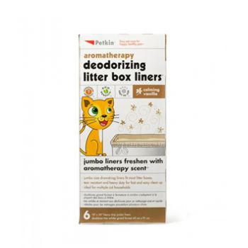 PetKin Litter Box Liners - Vanilla -6 ct