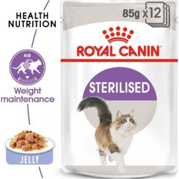 Royal Canin Wet Cat Food Jelly  Sterilised (POUCHES)85G