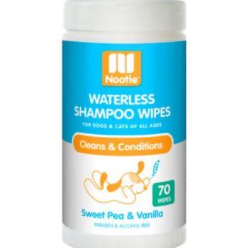 Nootie Waterless Shampoo Wipes – Sweet Pea & Vanilla 70 Count