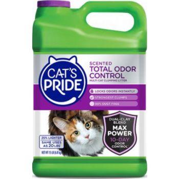 Cat's Pride Total Odor Control Scented Cat Litter, 15 lb
