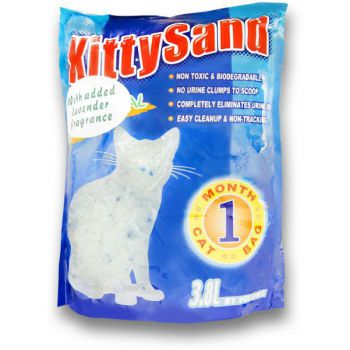 KITTY SAND  CRYSTAL CAT LITTER   Lavender Scent 3.8L
