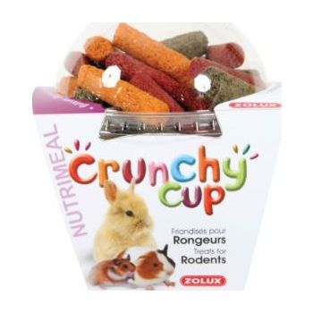CRUNCHY CUP STICKS RODENT TREATS - LUCERNE-CARROT BEETROOT