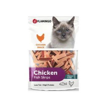 Flamingo Chicken Fish Strips Cat Treats 85g