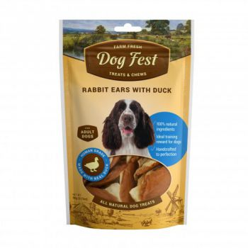 Dog Fest Rabbit ears with duck for adult dogs - 90g (3.17oz)