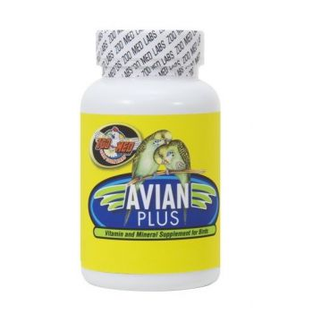 Zoo Med Avian Plus Vitamin And Mineral Supplement For Birds, 16 Oz