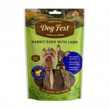 Dog Fest Rabbit ears with lamb for mini-dogs - 55g (1.94oz)