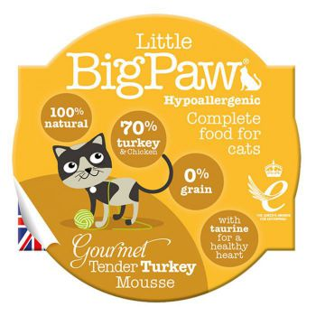 Little Big Paw Cat Gourmet Turkey Mousse