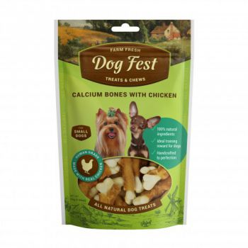 Dog Fest Calcium bones with chicken for mini-dogs - 55g (1.94oz)