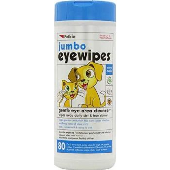 Petkin Jumbo Eyewipes - 80ct