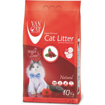 Van Cat White Clumping Bentonite Cat Litter Unscented 10Kg