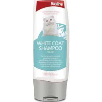 BIOLINE WHITE COAT SHAMPOO FOR CAT 200ML