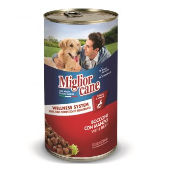 Miglior Chunks Beef Dog Wet Food, 1250g