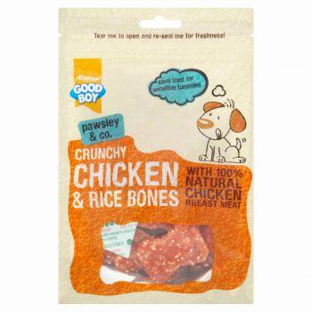 Good Boy Dog Treats Crunchy Chicken & Rice Bones - 100G