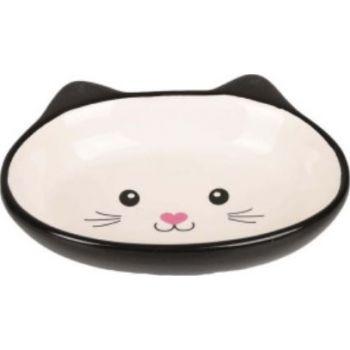 Flamingo Isa Ceramic Feeding and Drinking Cat Bowl Black