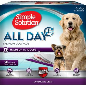 Simple Solution All Day 6-Layer Premium Dog Pads,( 50 Pads) 23 X 24 In
