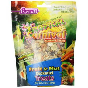 BROWNS FRUIT & NUT COCKATIEL TREAT227GM