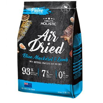 Absolute Holistic Air Dried Dog Diet - Blue Mackerel & Lamb 1kg