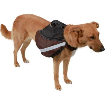 Kerbl Dog Rucksack, Large, Black/Brown