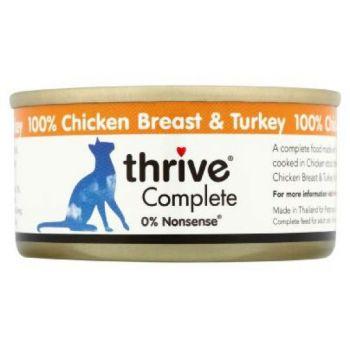 Thrive Complete Cat Chicken & Turkey Wet Food 75G