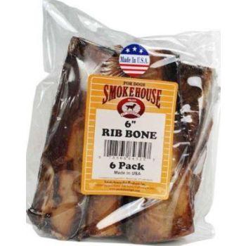 Smokehouse Rib Bone Dog Treats 6pk