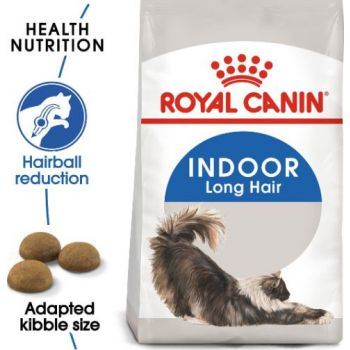 Royal Canin Cat Dry Food  Indoor  Long Hair 2 KG