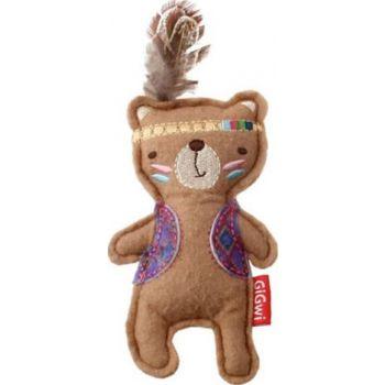 Cat Toys Happy Indians Bear Felt Catnip