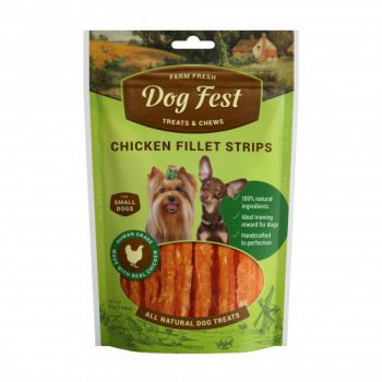 Dog Fest Chicken fillet strips for mini-dogs - 55g (1.94oz)