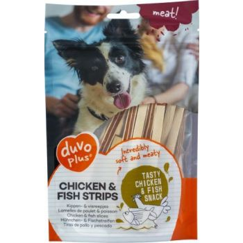 DUVO+ DOG SNACK CHICKEN&FISH STRIPS 80G (11950)