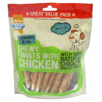 Dog Treats Chewy Chicken Twists -  320g Value Pack