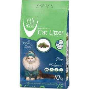 Van Cat White Bentonite Clumping Cat Litter Pine 10K Compact