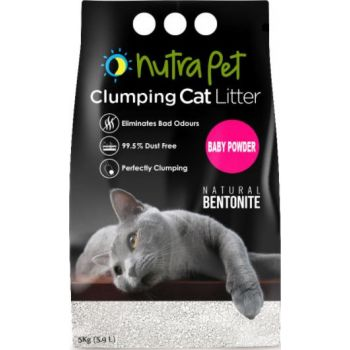Nutrapet Baby Powder White Compact Cat Litter 5KG